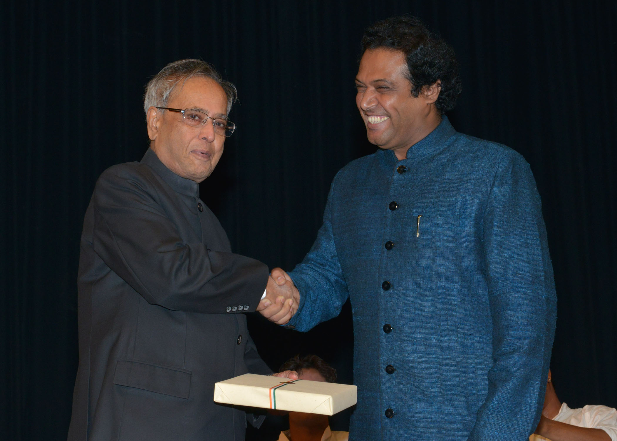 Dr. Syed Sallauddin Pasha with Shri Pranab Kumar Mukherjee is the 13th and current President of India